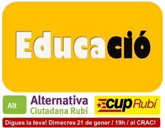 Dimecres treballarem l'Educació a Rubí! T'hi esperem!