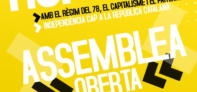 """Aquest dissabte 24/01 a les 11h assemblea """"Per la ruptura"""" #27S"""