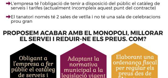L'AUP reclama acabar amb el monopoli dels serveis funeraris a Rubí